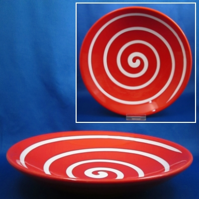 Waechtersbach Swirl Cherry Red coupe soup/individual pasta bowl