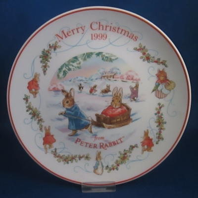 Wedgwood 1999 Peter Rabbit Annual Christmas plate