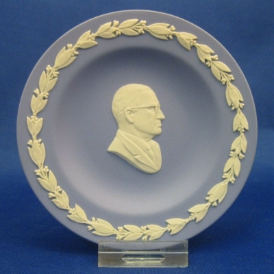 Wedgwood Cc on Lavender Personality Round Tray - Truman