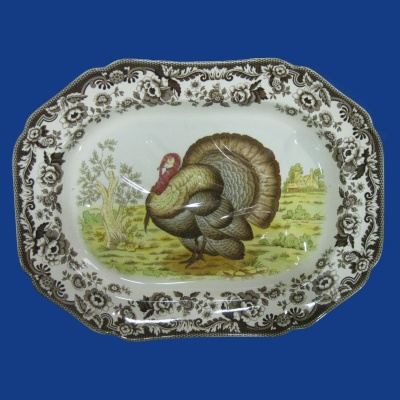 "Spode Woodland - Turkey - 20"" oval platter"