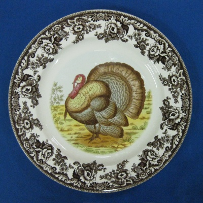 Spode Woodland Turkey service plate (charger)