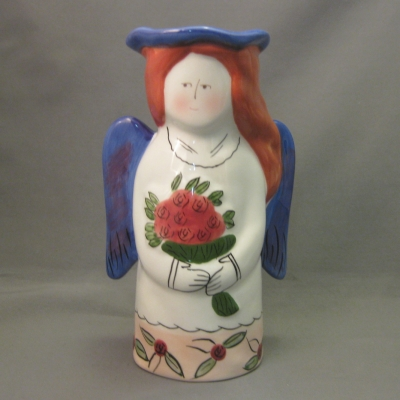 Je T'aime Ceramic Angel Figures and Vases