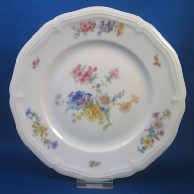 2377 (Chippendale form, multi floral, gray-blue trim)