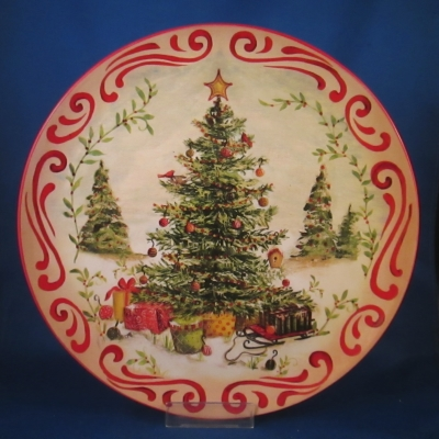 Countryside Christmas - Kate McRostie & Silvestri Countryside Christmas 12 square platter - Snowman - $37.95 ...
