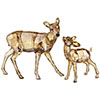 Doe and Fawn, Crystal Golden Shadow - RETIRED