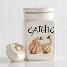 Garlic Jar Covered Container - Retired